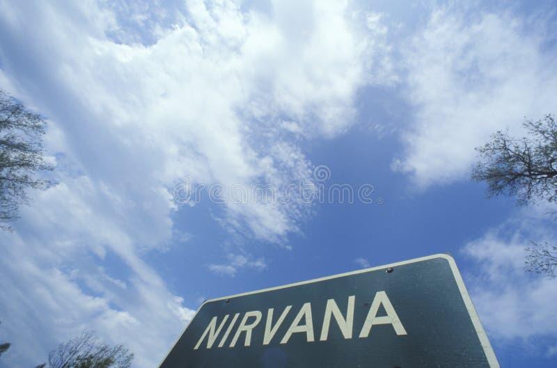 Een teken voor Nirvana stock foto