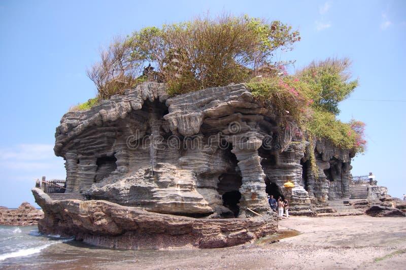 Een tempel bij Tanah Partij Bali royalty-vrije stock foto