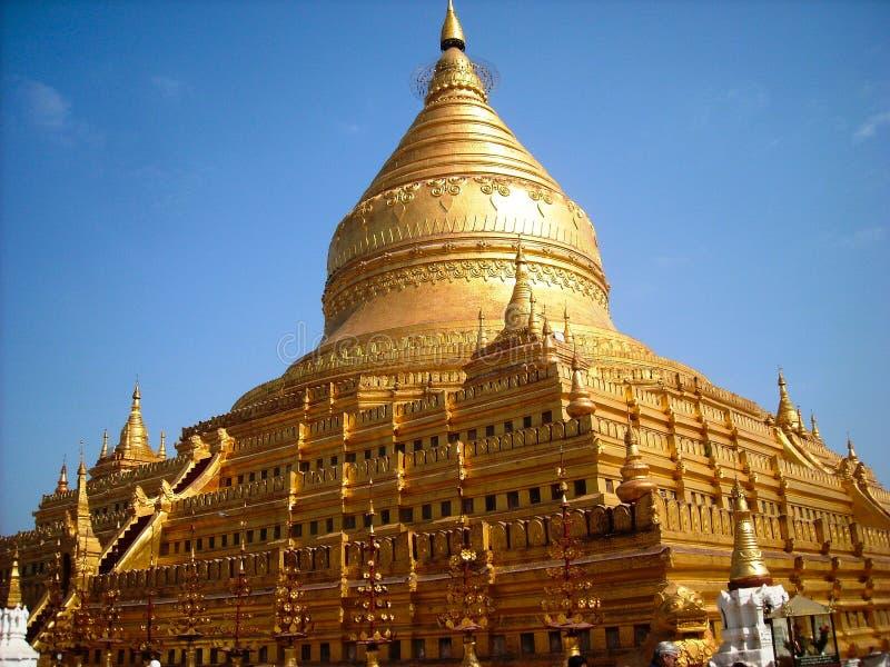 Een tempel in Birma stock foto's