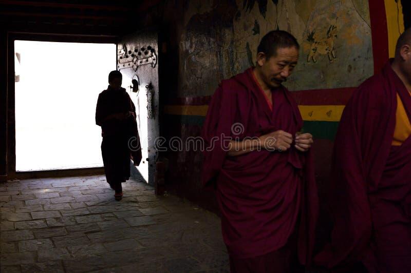 Een tempel in Rikaze, Tibet, Zhashilunbu-Tempel royalty-vrije stock afbeeldingen