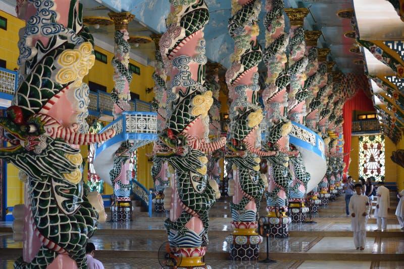 Een tempel van Cau Dai in Tay Ninh Province, Vietnam stock fotografie