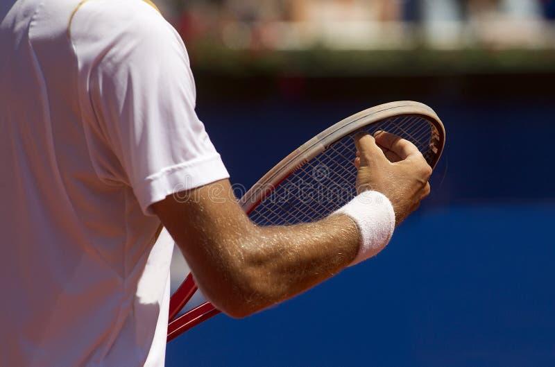 Een tennisspeler royalty-vrije stock afbeeldingen