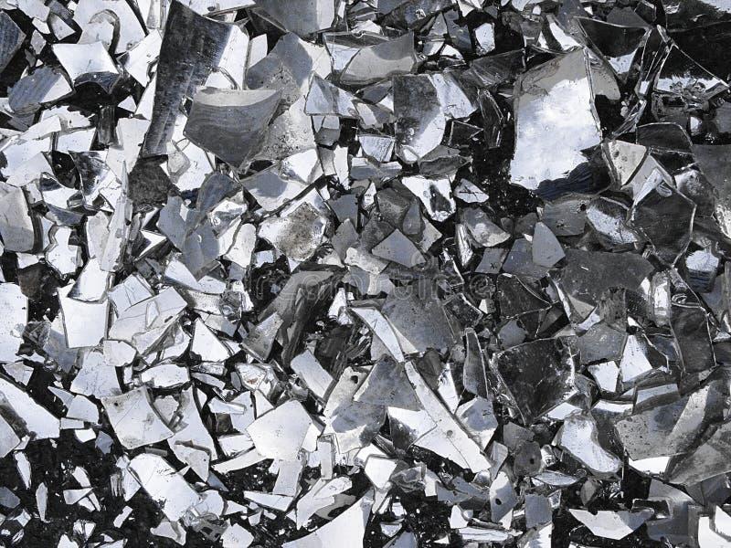 Een textuur van een gebroken glas stock afbeeldingen