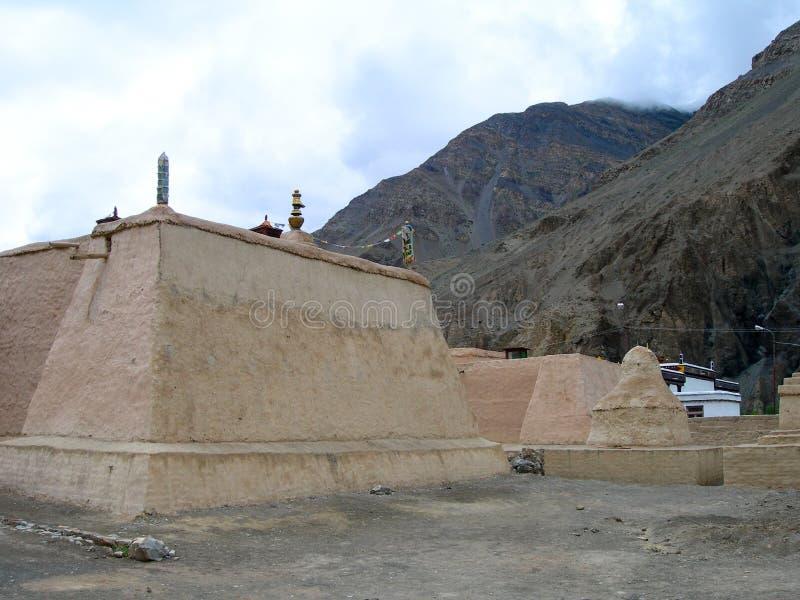 Een Tibetaans Boeddhistisch klooster in Tibet, India royalty-vrije stock afbeeldingen