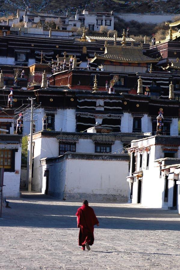 Een Tibetan lamasery stock afbeeldingen