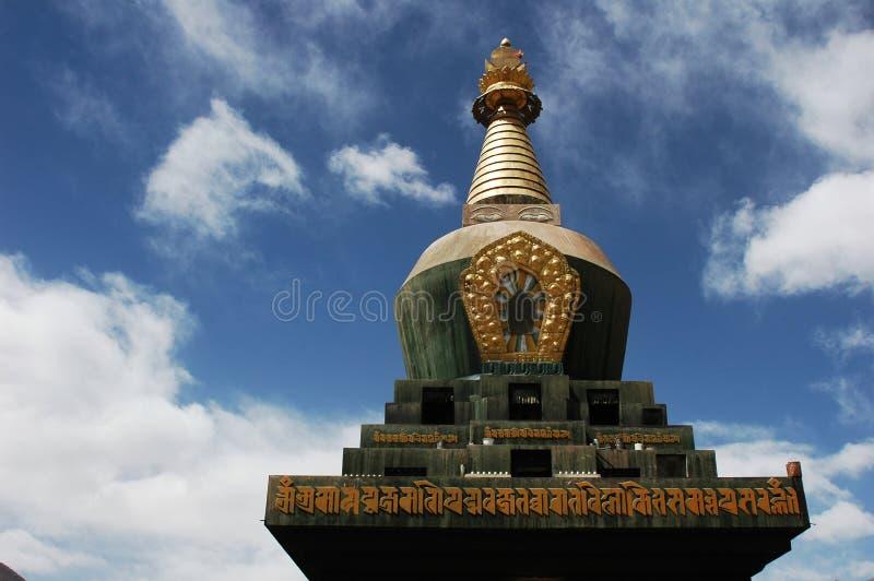 Een Tibetan Pagode stock afbeelding