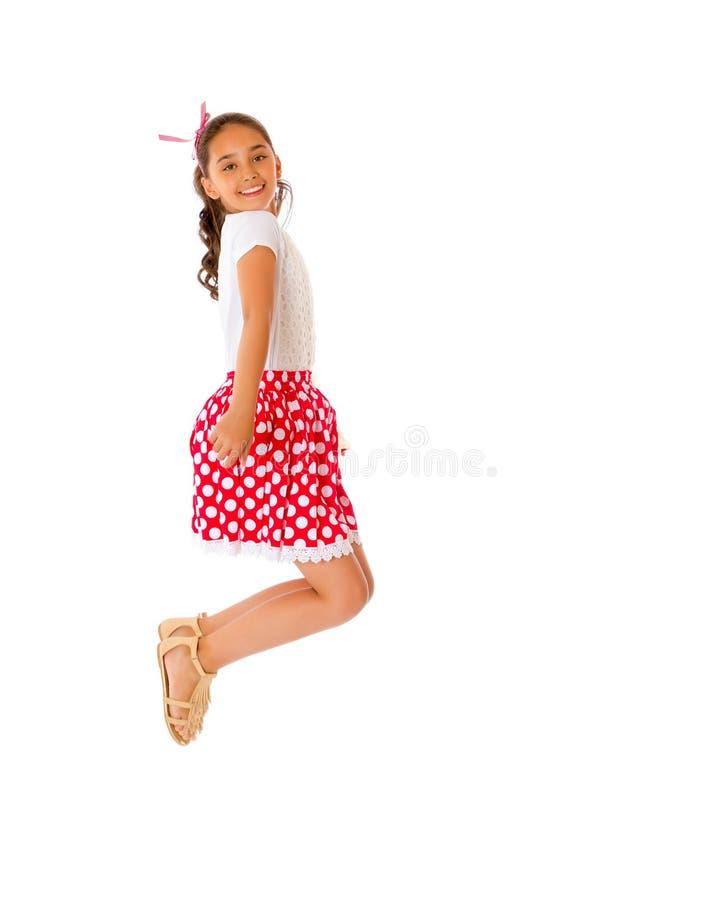Een tiener springt stock afbeeldingen