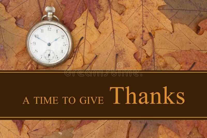 Een Tijd om Dankbericht te geven stock foto's