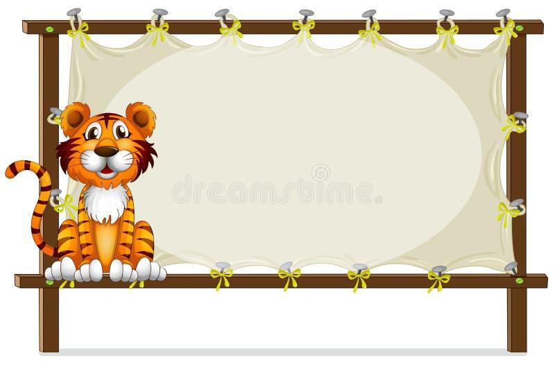 Een tijger binnen een kader royalty-vrije illustratie