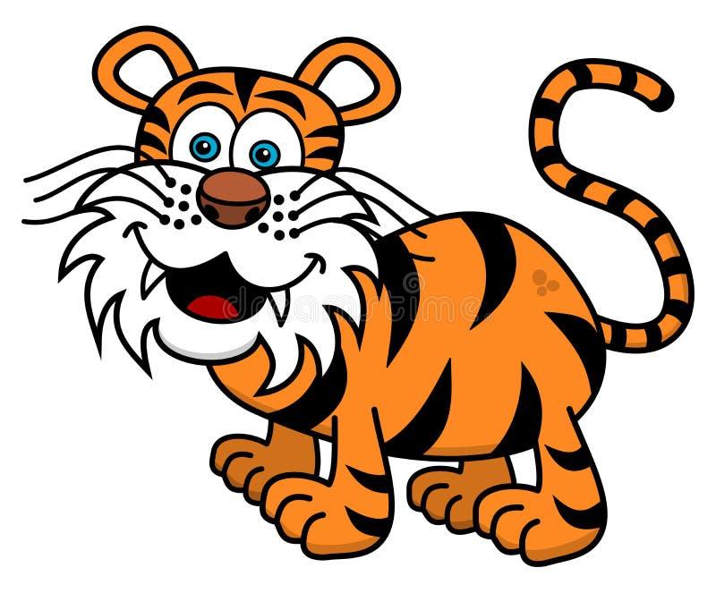 Een tijger die op profiel glimlachen stock illustratie