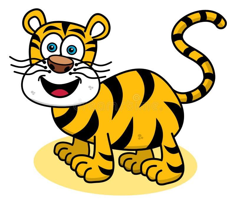 Een tijger die op profiel glimlachen vector illustratie