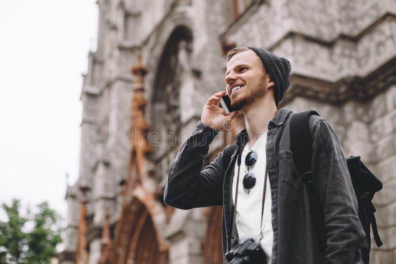 Een toerist in stad royalty-vrije stock fotografie