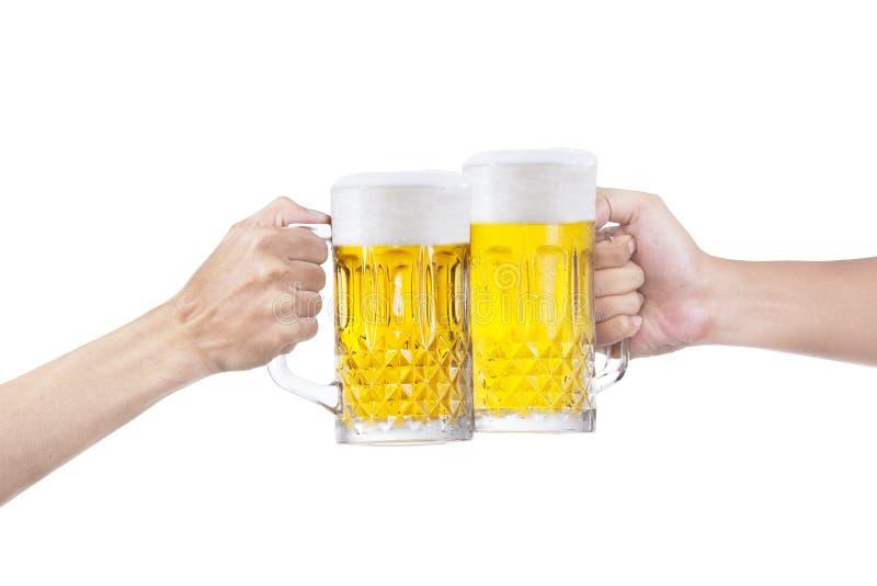 Een toost van bier royalty-vrije stock afbeeldingen