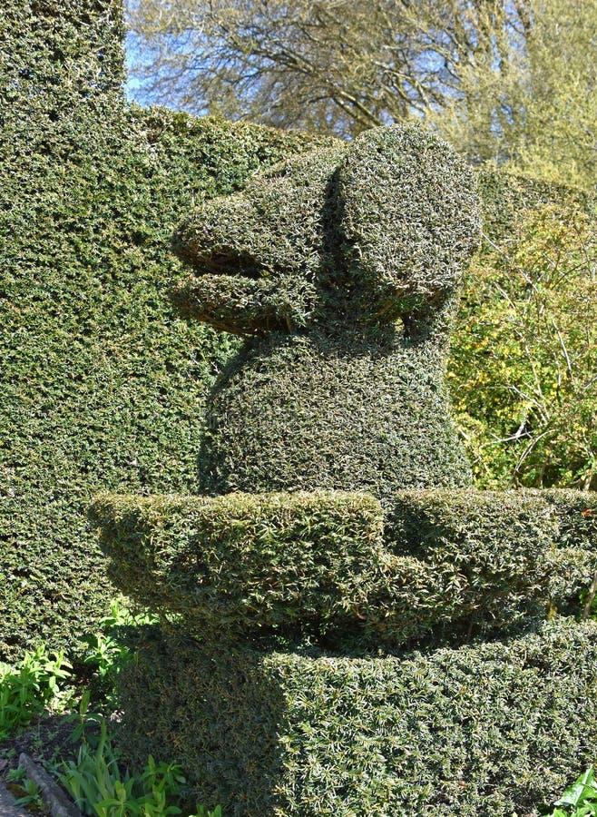 Een topiary hond royalty-vrije stock afbeeldingen