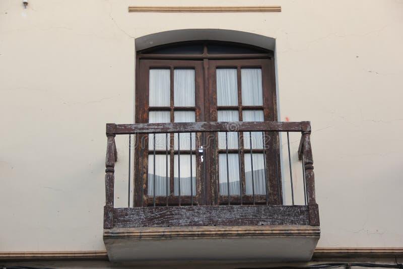 Een traditioneel balkon in Sucre royalty-vrije stock afbeelding