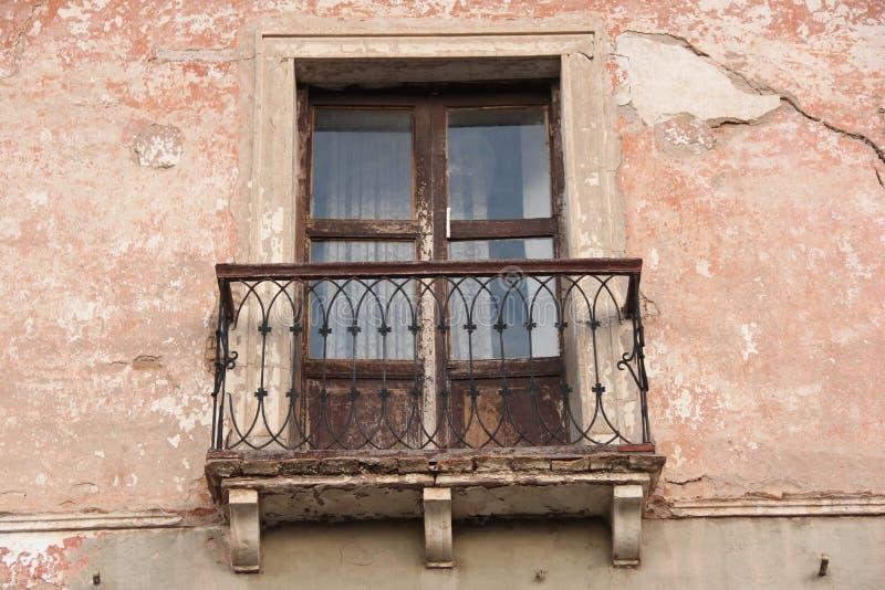 Een traditioneel balkon in Sucre stock fotografie