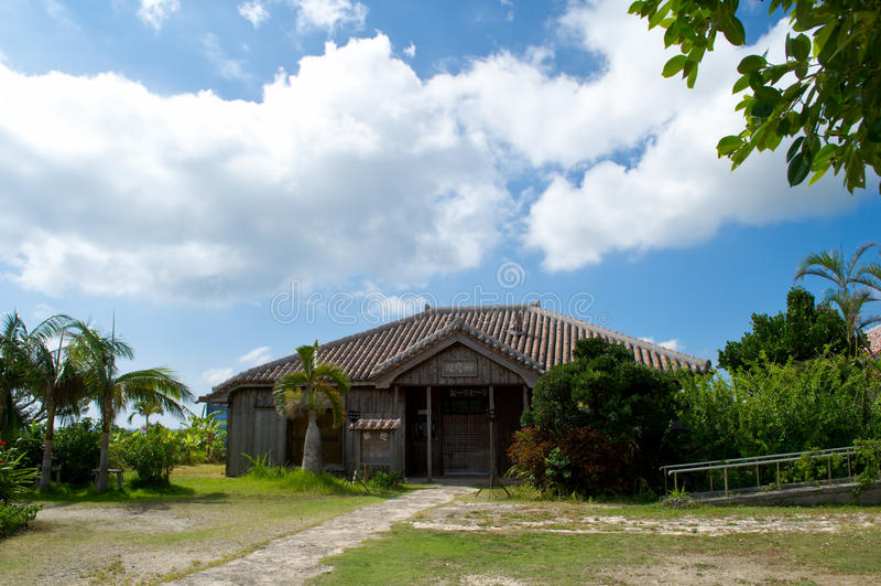 Een traditioneel Okinawan-huis stock foto