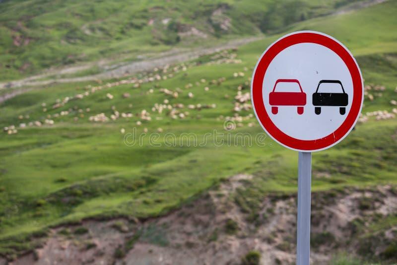 Een troep van schapen die gras in de groene heuvels van de Hoge Kaukasus eten dichtbij Shemakha, Azerbeidzjan Brede hoekmening en stock afbeelding