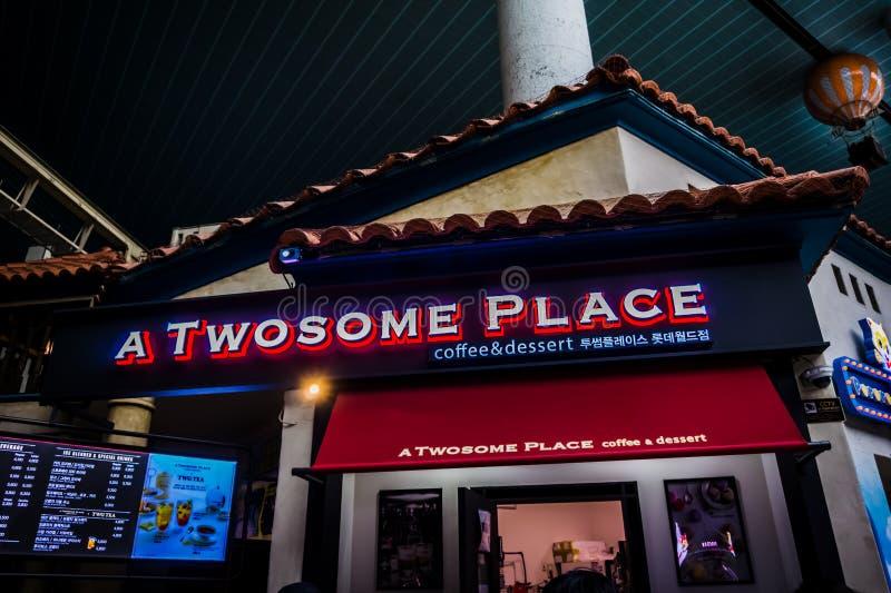 Een Tweetalplaats - Lotte World Adventure stock fotografie