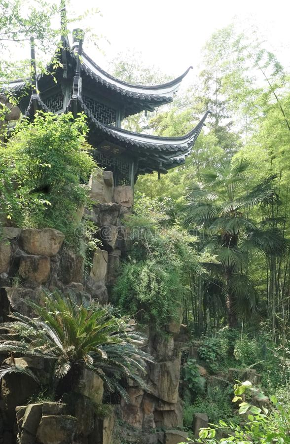 Een typisch Chinees tuinlandschap royalty-vrije stock foto's