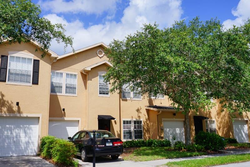 Een typisch huis in de stad in Florida royalty-vrije stock foto