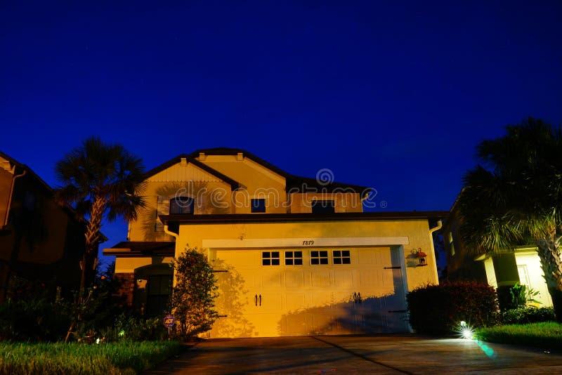 Een typisch huis in Florida stock foto