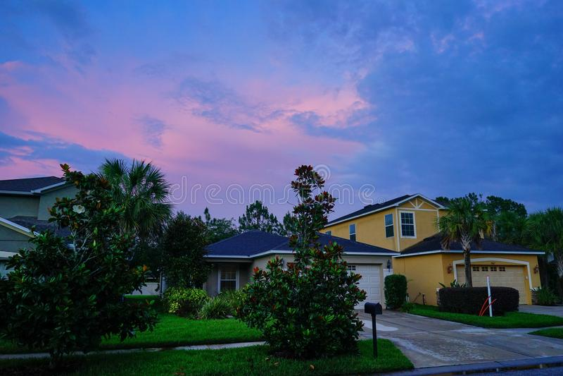 Een typisch huis in Florida stock afbeelding