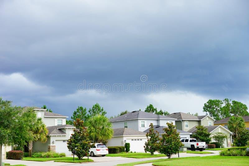 Een typisch huis in Florida stock foto's