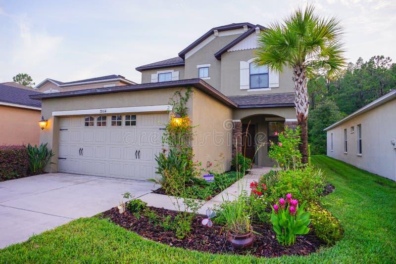 Een typisch huis in Florida stock afbeeldingen