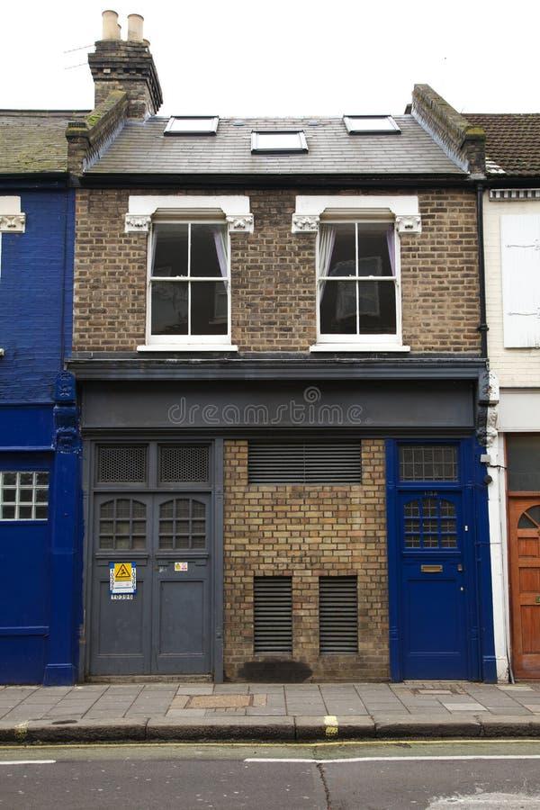 Een typisch woonhuis in Fulham royalty-vrije stock afbeeldingen