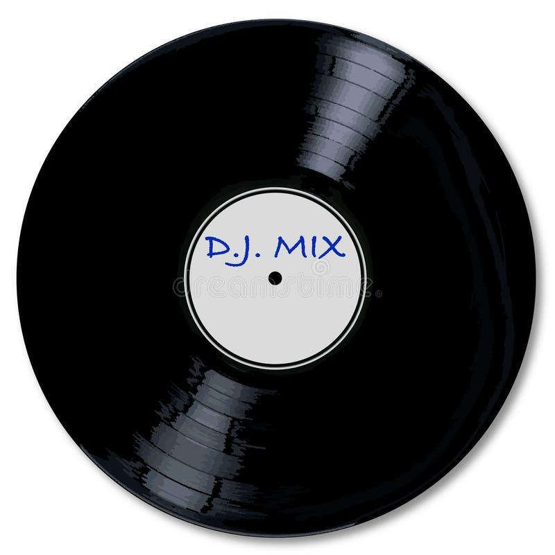 Een typische mengeling van DJ van het L.P. vinylverslag stock illustratie