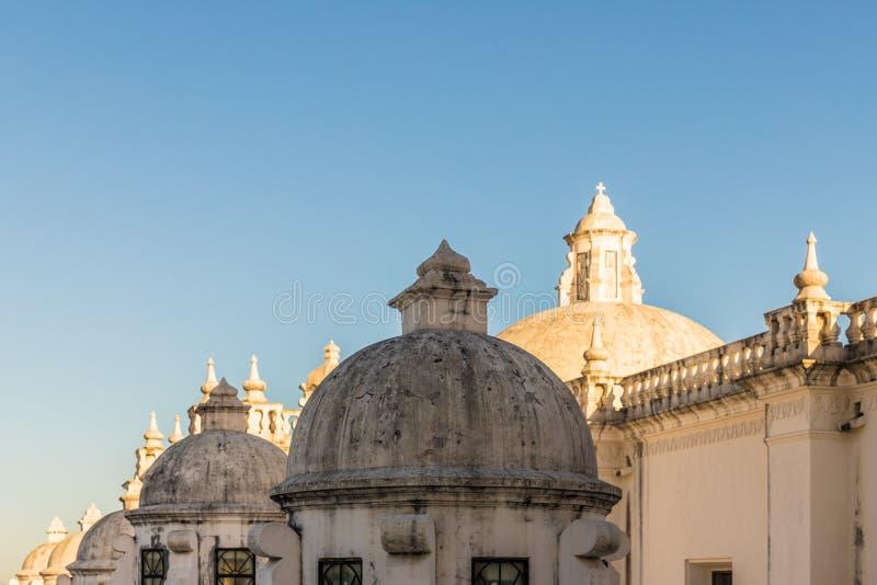 Een typische mening in Leon Nicaragua royalty-vrije stock afbeeldingen
