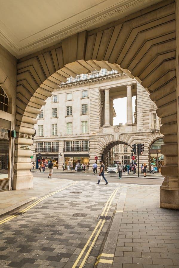 Een typische mening in Londen royalty-vrije stock foto's