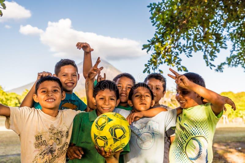 Een typische mening in Ometepe in Nicaragua stock afbeelding