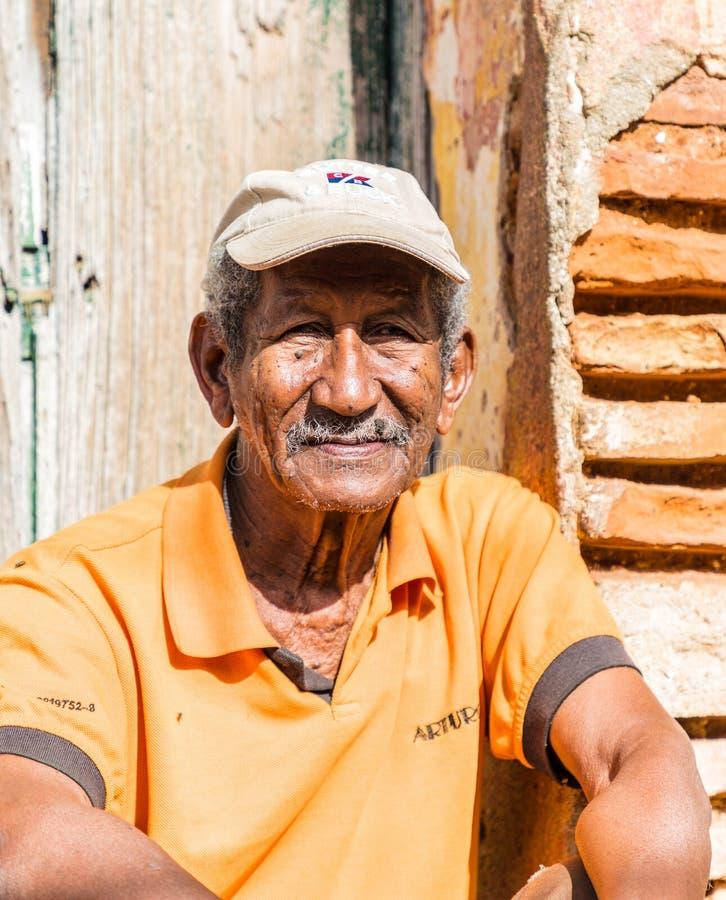 Een typische mening in Trinidad in Cuba stock afbeelding