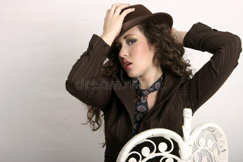 Download Een uiteinde van de hoed stock foto. Afbeelding bestaande uit vrouw - 280104