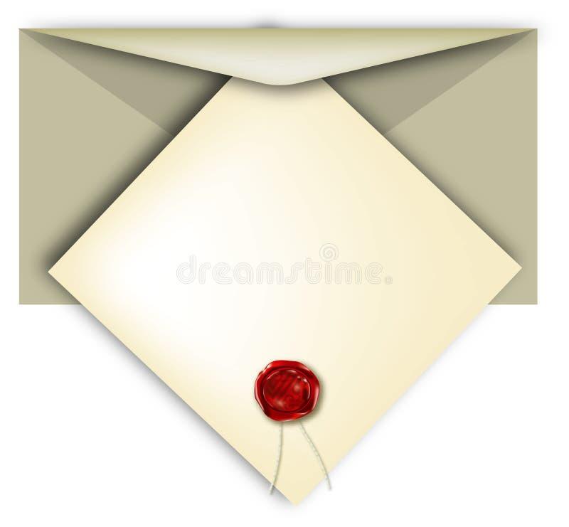 Een uitnodiging stock illustratie