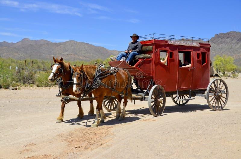 Een uitstekend dorp van Oud Tucson stock fotografie
