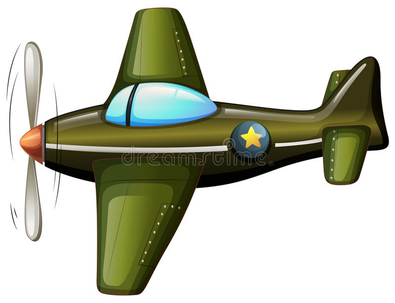 Een uitstekend vliegtuig royalty-vrije illustratie