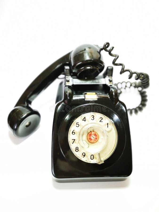 Een uitstekende en antieke telefoon met witte achtergrond royalty-vrije stock fotografie