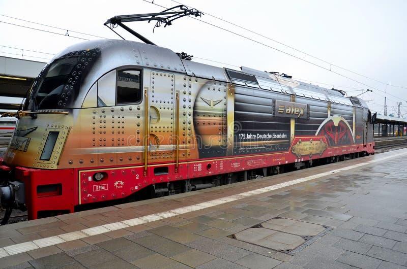 Duitse elektrische trein voortbewegingsmotor München Duitsland stock foto's