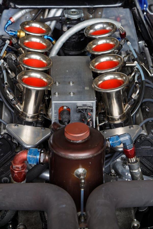 Een V8 motor stock foto's
