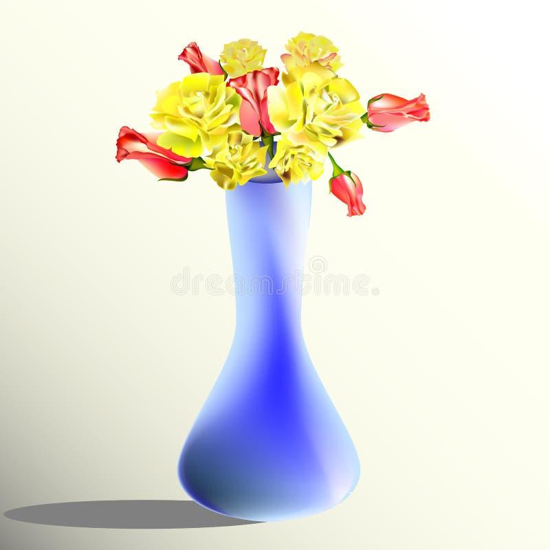 Een vaas van bloemen vector illustratie