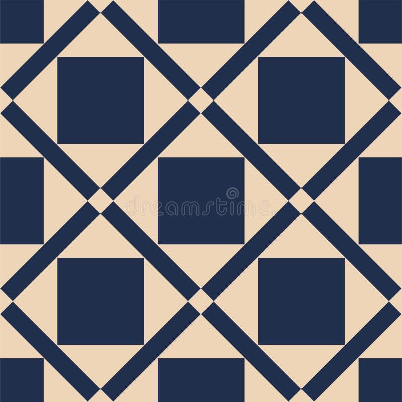 Een vector eenvoudig net tweekleurig patroon vector illustratie