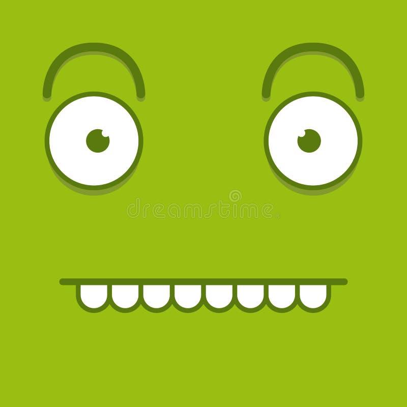 Download Een Vector Leuk Beeldverhaal Groen Grappig Gezicht Stock Illustratie - Illustratie bestaande uit jongen, avatar: 39105169