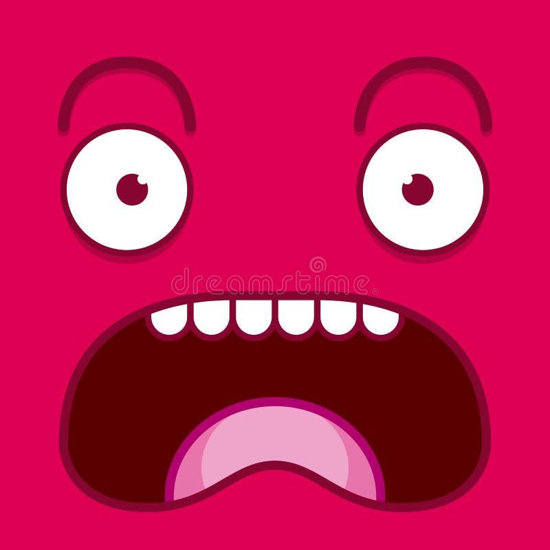 Download Een Vector Leuk Beeldverhaal Roze Het Gillen Gezicht Stock Illustratie - Illustratie bestaande uit lafaard, emoticon: 39105172