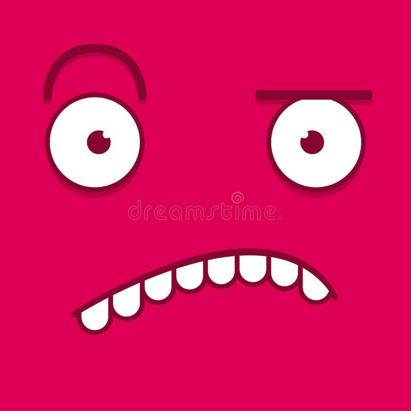 Download Een Vector Leuk Beeldverhaalroze Verward Gezicht Stock Illustratie - Illustratie bestaande uit disagree, emotie: 39105156