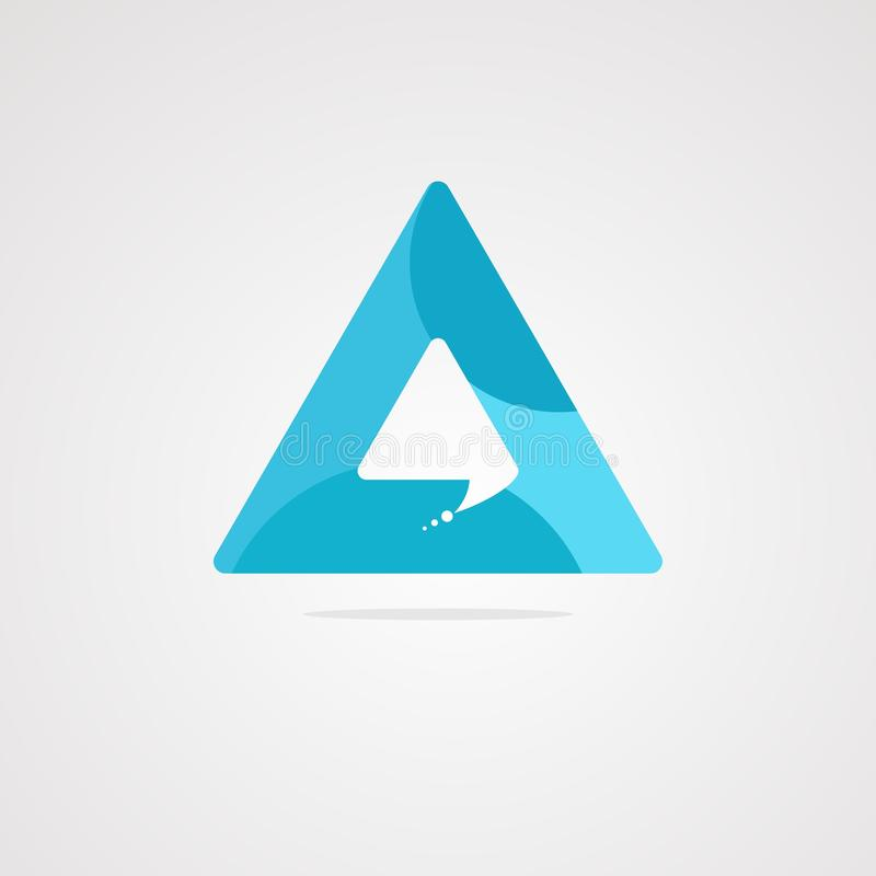 Een een een een vector, pictogram, element, en malplaatje van het praatjeembleem royalty-vrije illustratie