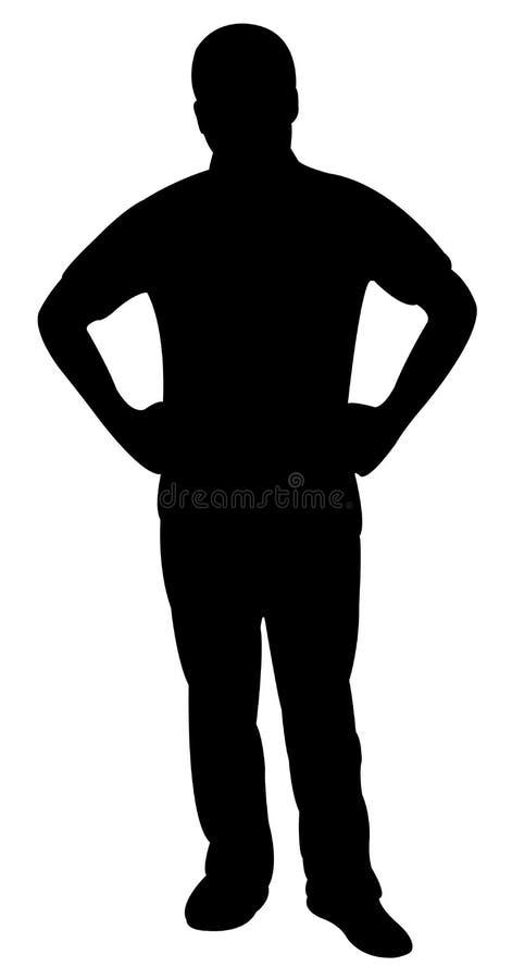 Een vector van het mensensilhouet vector illustratie