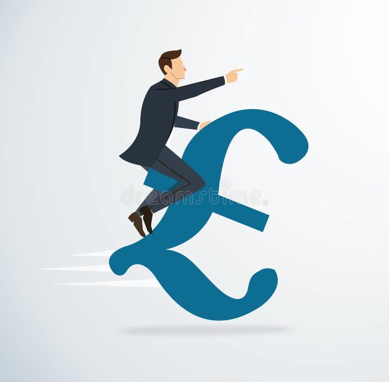 Een vector van het personenvervoer Euro pictogram Bedrijfs conceptenillustratie Manier aan succes stock illustratie